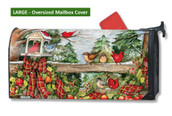 Mailwraps Winter Gathering LARGE Magnetic Mailbox Cover