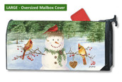 Mailwraps Snowman Birdfeeder LARGE Magnetic Mailbox Cover