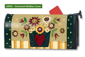 Mailwraps Primitive Posies LARGE Magnetic Mailbox Cover