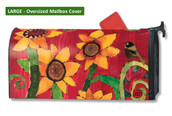Mailwraps Peace Sunflower LARGE Magnetic Mailbox Cover