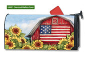 Mailwraps Old Glory Barn LARGE Magnetic Mailbox Cover