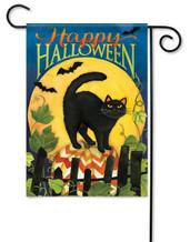 Halloween outdoor garden flag Black Cat