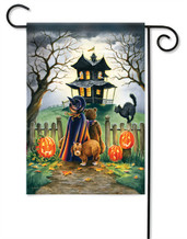 "Outdoor Halloween Garden Flag ""Maybe Not"""