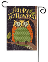 Outdoor Garden Flag Halloween Owl