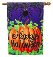 Halloween Spider House Flag