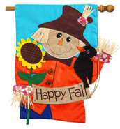 Applique House Flag Scarecrow