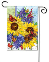 BreezeArt Garden Flag Butterflies and Blossoms
