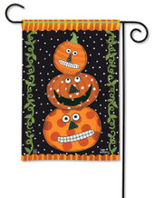 BreezeArt Halloween Garden Flag Pumpkin Faces
