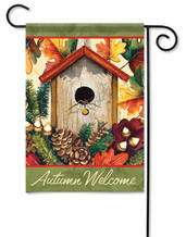 Autumn Birdhouse Decorative Garden Flag