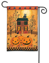 BreezeArt Outdoor Garden Flag Halloween Glow