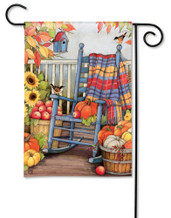 BreezeArt Outdoor Garden Flag Autumn Porch