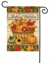 Autumn Basket Decorative Garden Flag