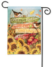 BreezeArt Outdoor Garden Flag Signs of Fall Garden