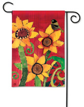 BreezeArt Outdoor Garden Flag Peace Sunflower