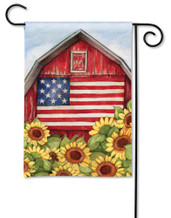 BreezeArt Outdoor Garden Flag Old Glory Barn