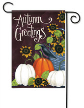 Autumn Greetings Decorative Garden Flag