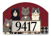 Yard DeSign Address Sign Kitties at Home
