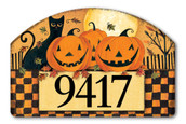 Yard DeSign Address Sign Halloween Glow