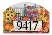 Yard DeSign Address Sign Autumn Porch