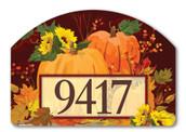 Yard DeSign Address Sign Harvest Pumpkins