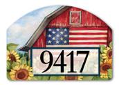 Yard DeSign Address Sign Old Glory Barn