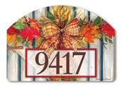 Yard DeSign Address Sign Autumn Gate