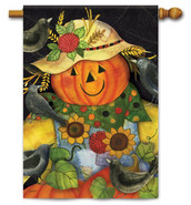 Scarecrow Friends Decorative House Flag