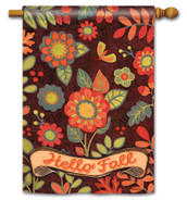 BreezeArt Outdoor House Flag Hello Fall