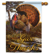 Give Thanks Turkey Decoration House Flag