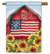 BreezeArt Outdoor House Flag Old Glory Barn