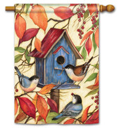 BreezeArt Outdoor Welcome Neighbors House Flag