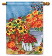 BreezeArt Outdoor House Flag Mum's the Word