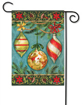 Glittering Ornaments Christmas Garden Flag