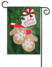 Applique Garden Flag Holiday Cheer Mittens