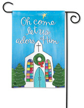 BreezeArt Adore Him Christmas Outdoor Garden Flag