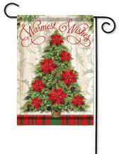 Warmest Wishes Tree Decorative Garden Flag