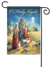Holy Night Nativity Garden Flag