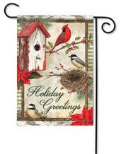 Rustic Garden Holiday Decorative Garden Flag