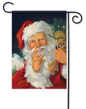 Santa Wink Christmas Decorative Garden Flag