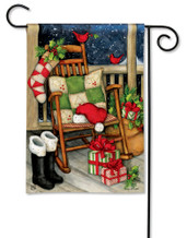 BreezeArt Santa's Porch Christmas Outdoor Garden Flag