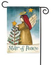 Star Of Peace Christmas Garden Flag