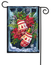 Norwegian Christmas Mittens Outdoor Garden Flag