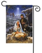 Nativity Garden Flag A Savior is Born