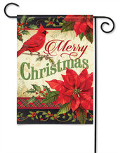 Merry Christmas Greeting Decorative Garden Flag