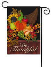 Be Thankful Outdoor Garden Flag
