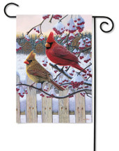 Outdoor Garden Flag Songbird Winter Cardinal