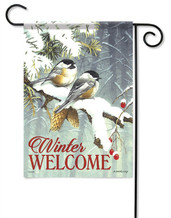 Chickadee Pair Decorative Garden Flag