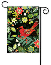 BreezeArt Folk Cardinal Outdoor Garden Flag