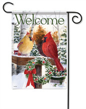 Christmas Cardinals Decorative Garden Flag