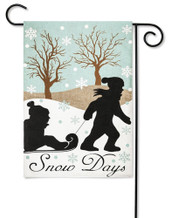 Snow Day Applique Outdoor Garden Flag